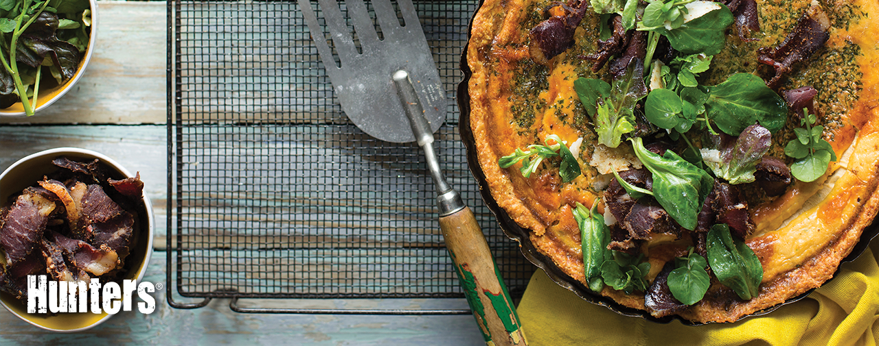 HUNTERS® QUICHE WITH BILTONG SALAD