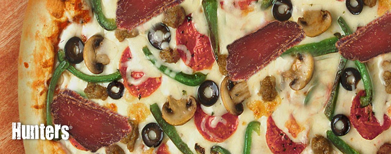 Quick Biltong Pizza