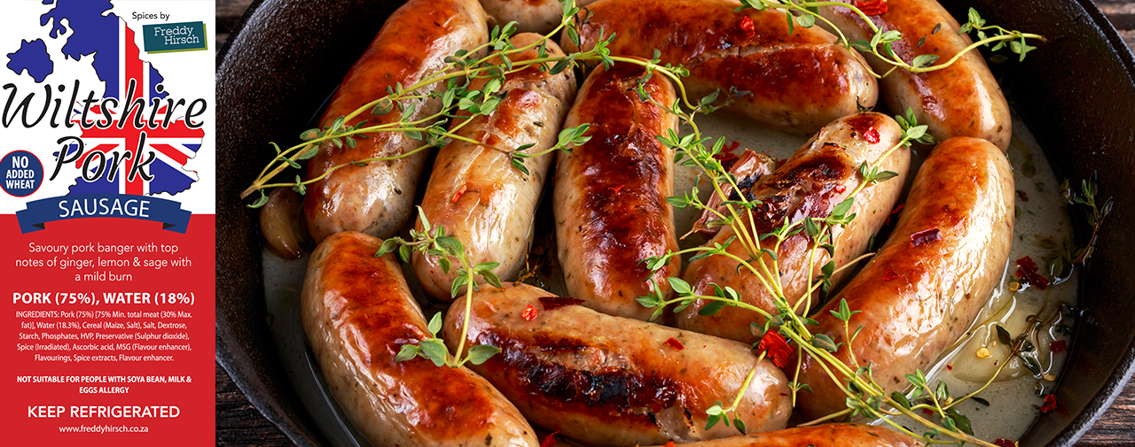 Wiltshire Pork Sausage — bangers bursting with flavour