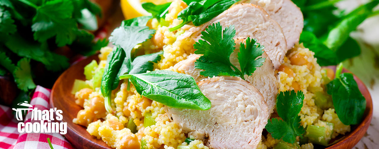 Chicken, Couscous & Chickpea Salad