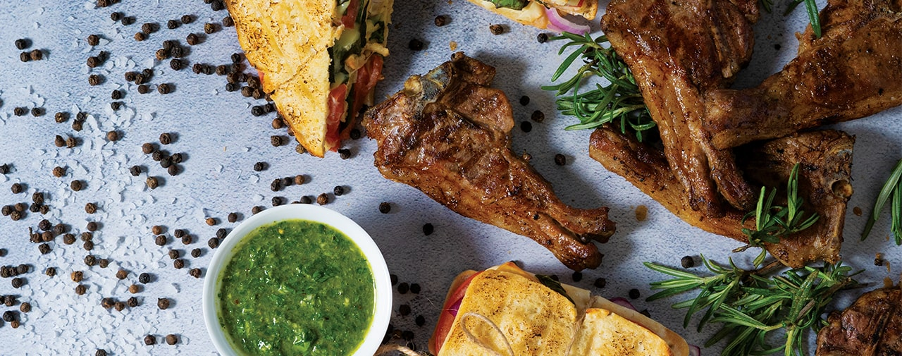 FO SHO Lamb Chops with Braai Brood and Chimichurri