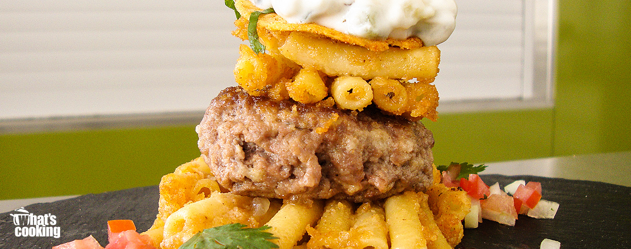 Mexican Mac & Cheese Burgers
