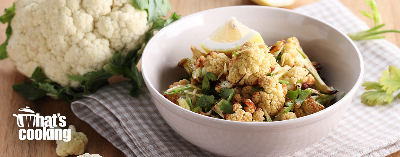 Roasted Cauliflower, Lentil & Feta Salad
