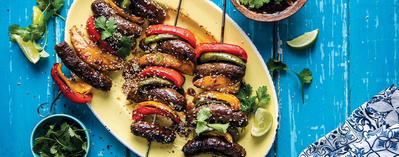 Sticky Asian Boerewors Kebabs