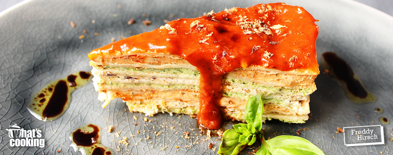 What's Cooking™ Biltong, Basil & Sun-dried Tomato Crepe Cake