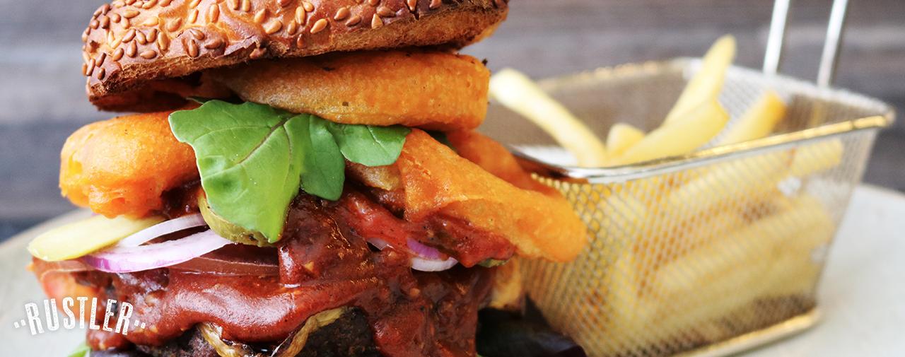 Gourmet Black Pepper Rustler Burger