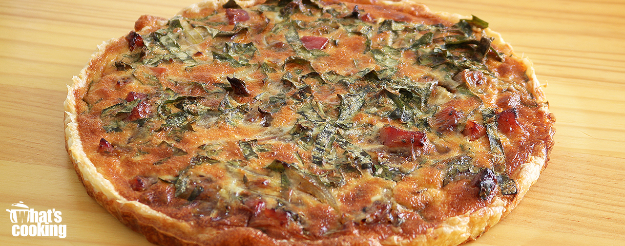 Gammon & Caramelised Onion Quiche