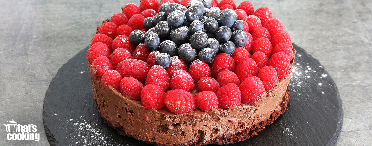 Chocolate Mousse and Raspberry Cake