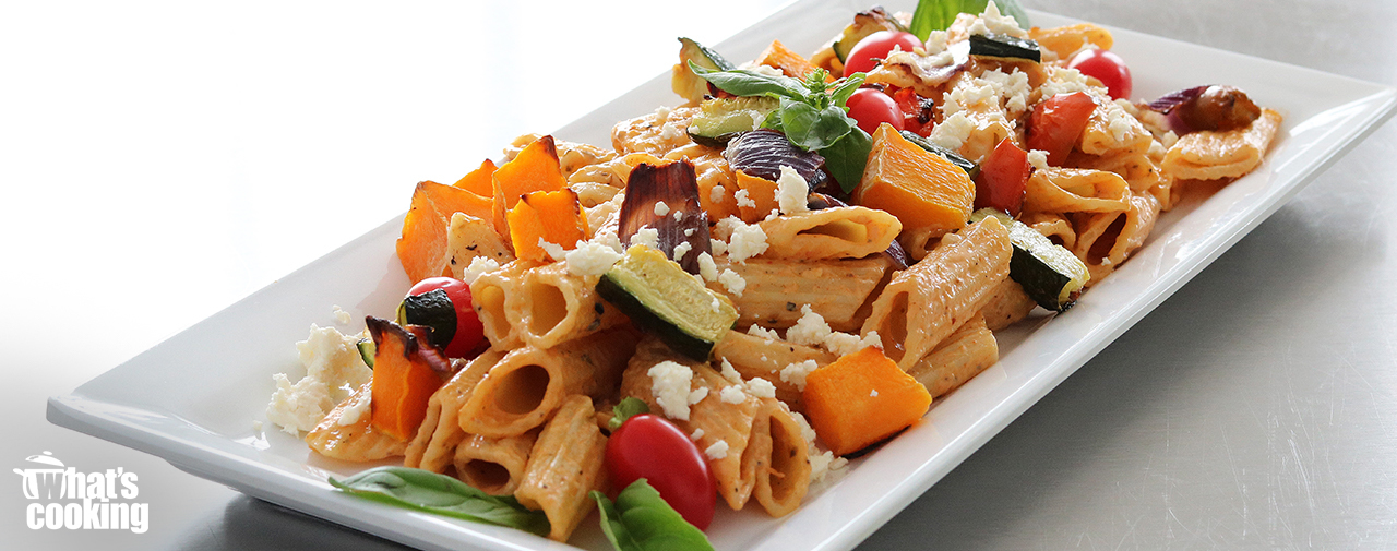 Roast vegetable and Pasta Salad