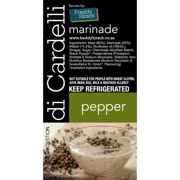 Di Cardelli Pepper Label