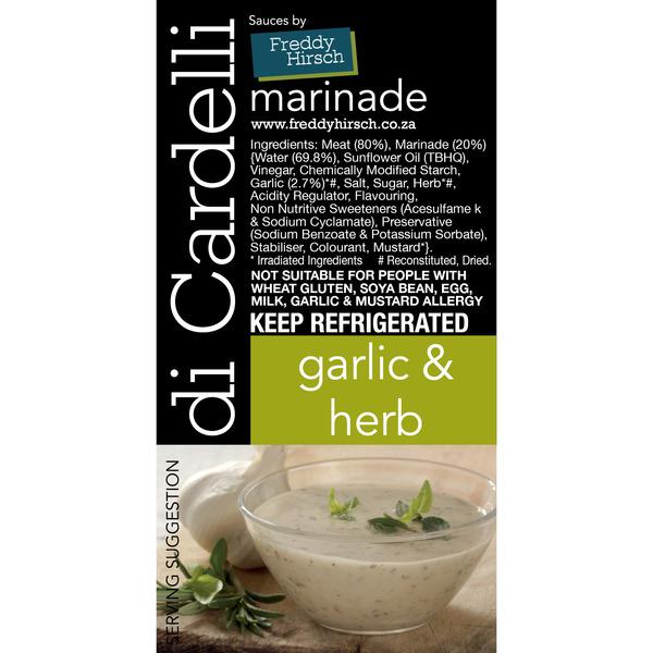 Di Cardelli Garlic & Herb Label