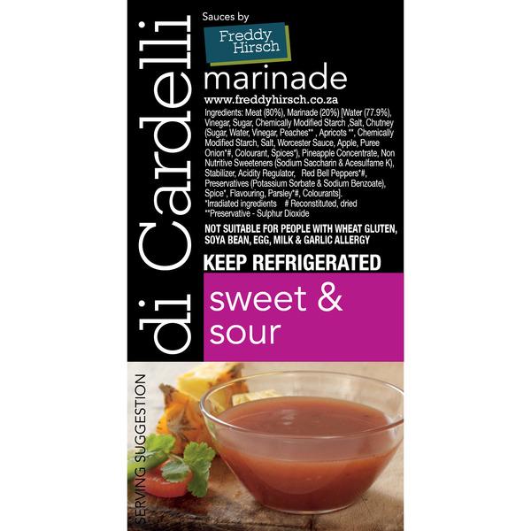 Di Cardelli Sweet & Sour Label