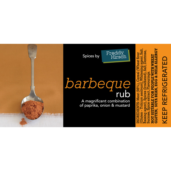 Barbeque Rub Label