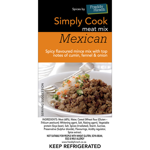 Mexican Meat Mix Label
