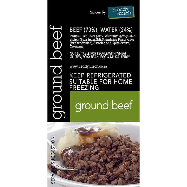 Ground Beef Label