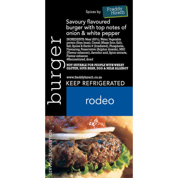 Rodeo Burger Label