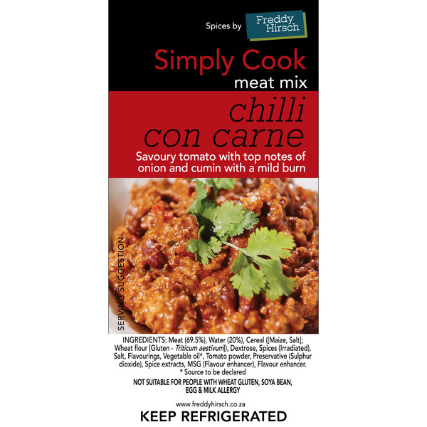 Chilli Con Carne Label