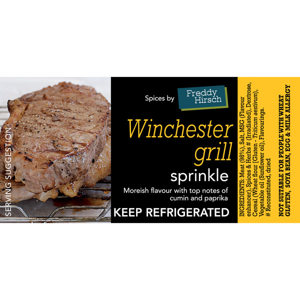 Winchester Grill Label