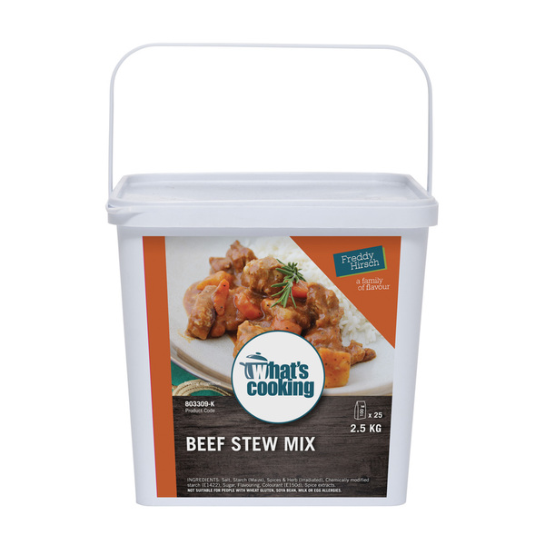 What's Cooking Beef Stew Mix Tub